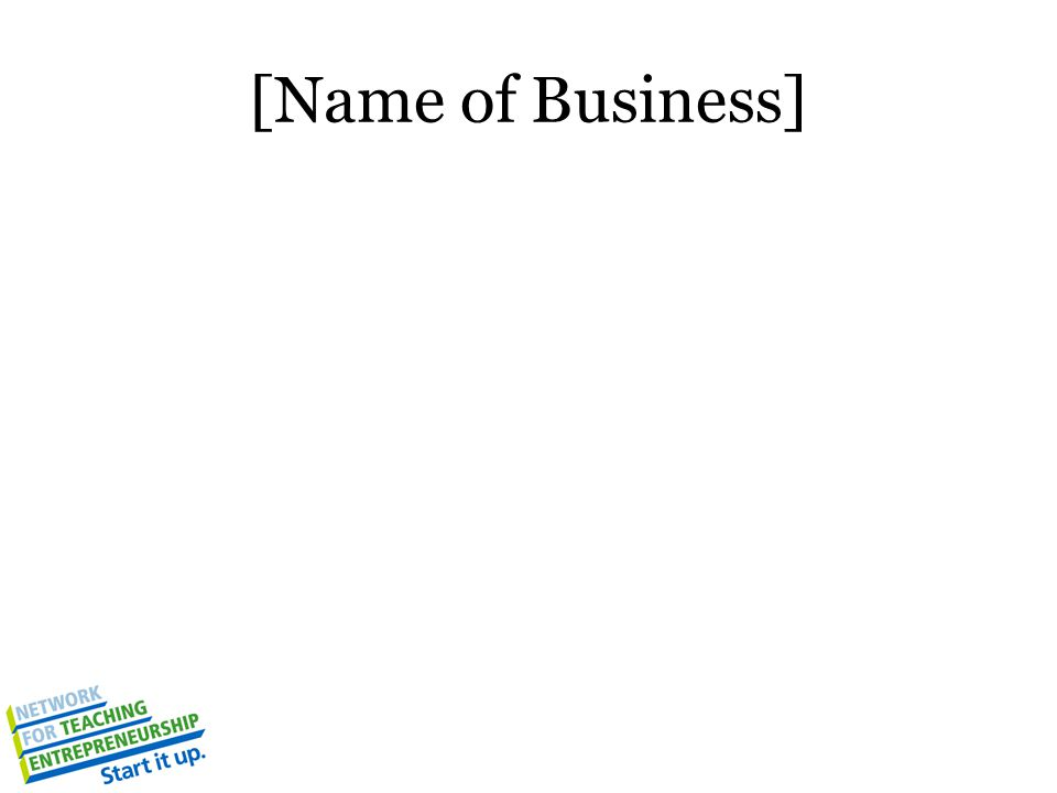 [Name of Business]