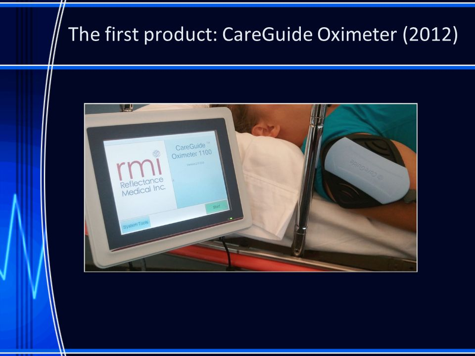 The first product: CareGuide Oximeter (2012)