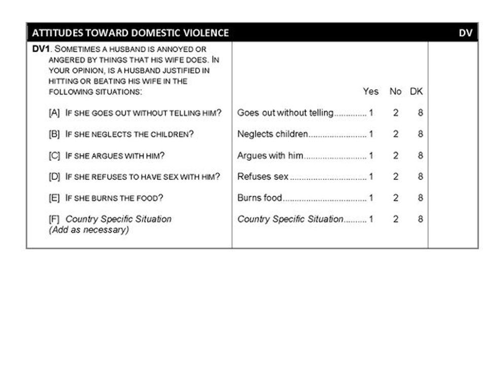 Attitudes Toward Domestic Violence