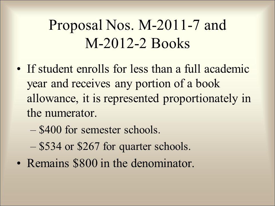 Proposal Nos.