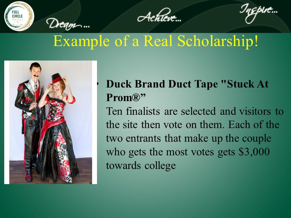 Example of a Real Scholarship.