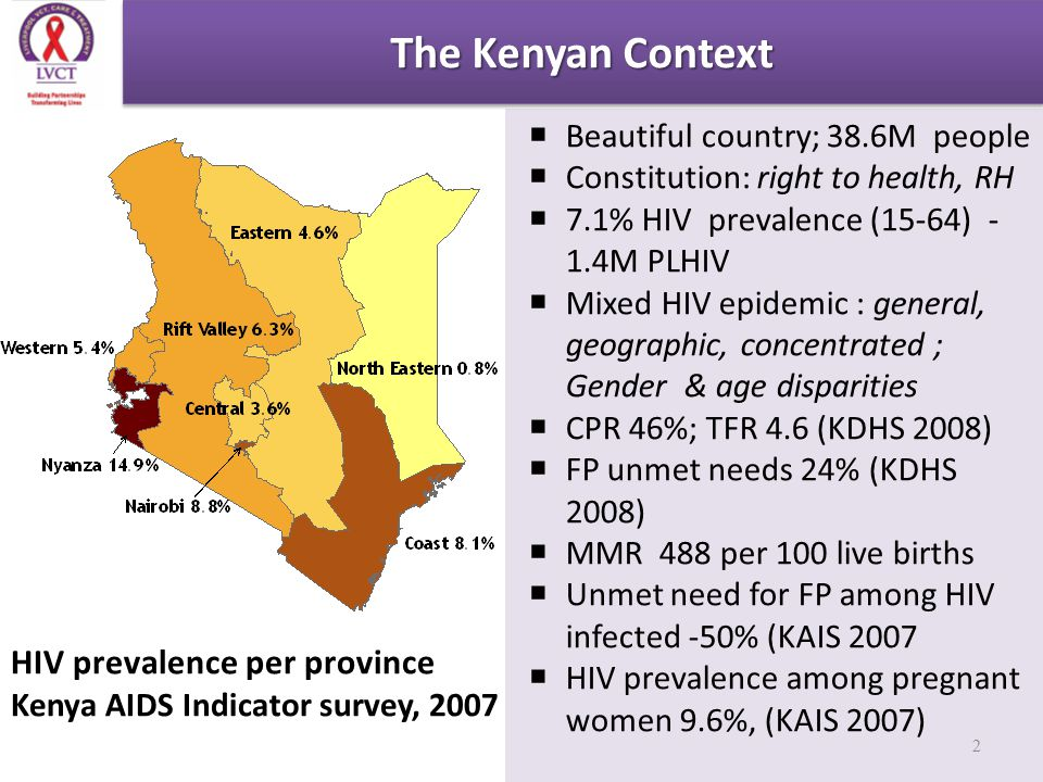  Beautiful country; 38.6M people  Constitution: right to health, RH  7.1% HIV prevalence (15-64) - 1.4M PLHIV  Mixed HIV epidemic : general, geogr