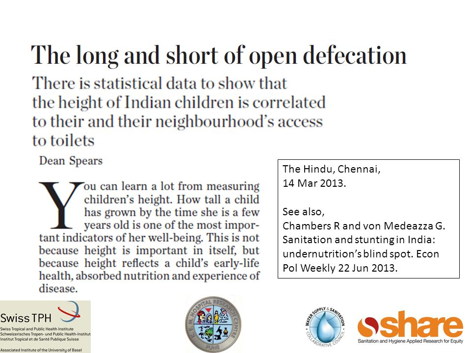 The Hindu, Chennai, 14 Mar 2013.See also, Chambers R and von Medeazza G.