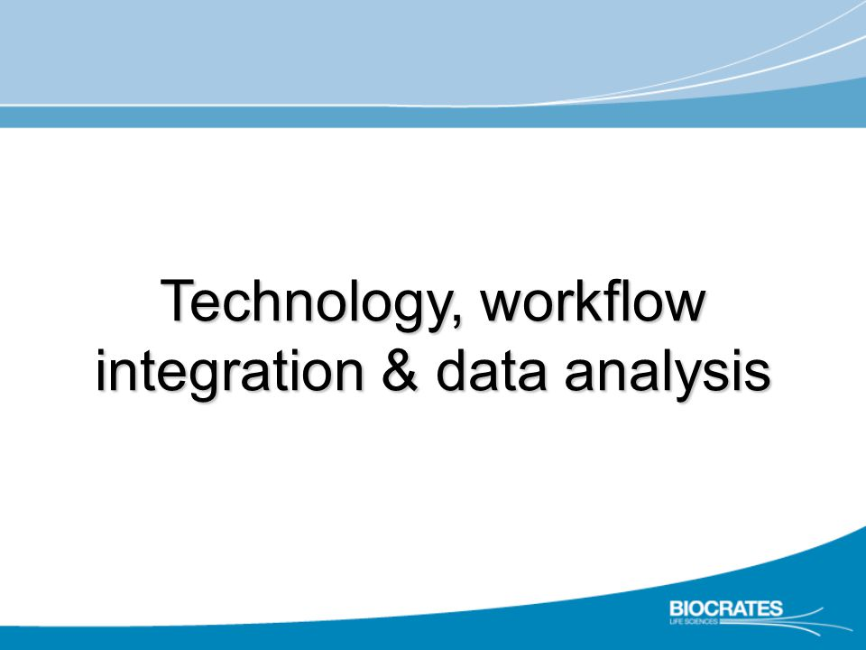 Technology, workflow integration & data analysis