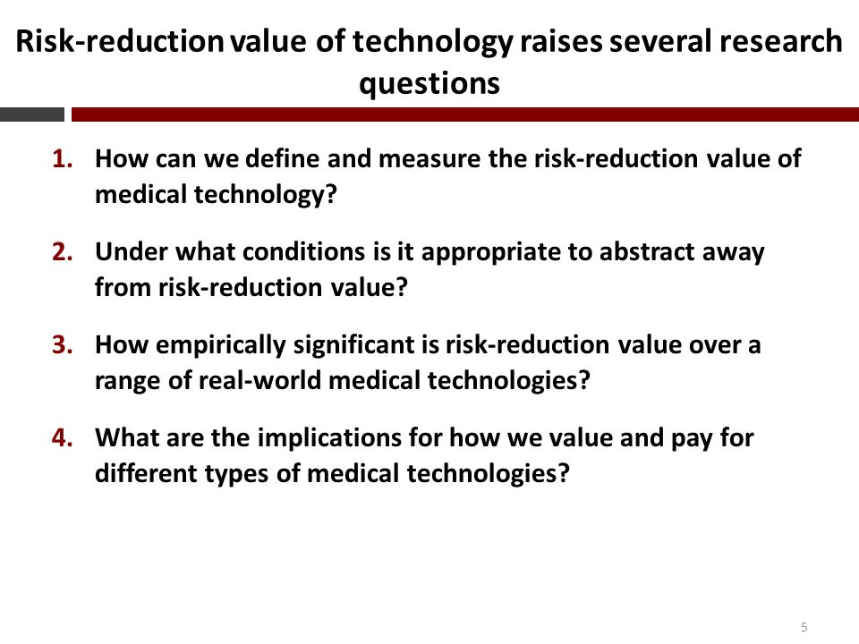 Value of health technology is right-skewed 16 Traditional valueSelf-insurance valueMarket-insurance value Sigma (RRA)MedianMeanMedianMeanMedianMean 0.5 (0.85) $108$564 1 (1) $108$564 3 (1.6) $108$564 5 (2.2) $108$564 8 (3.1) $108$564 Notes: Sample is 1,188 interventions from CEAR.