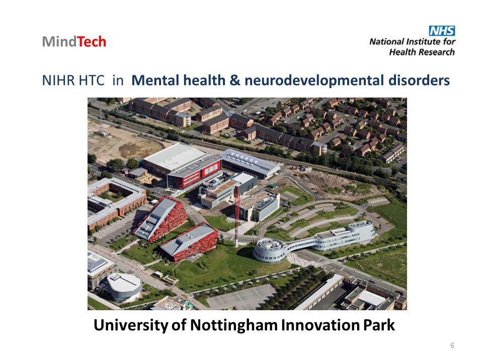 University of Nottingham Innovation Park MindTech NIHR HTC in Mental health & neurodevelopmental disorders 6
