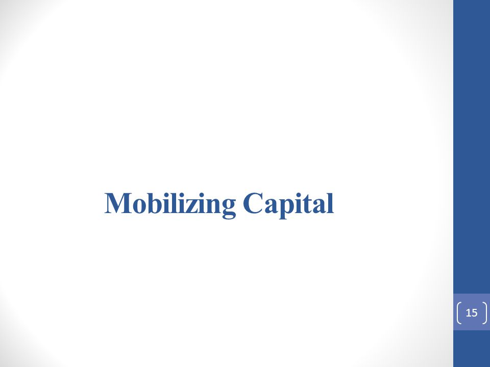 Mobilizing Capital 15