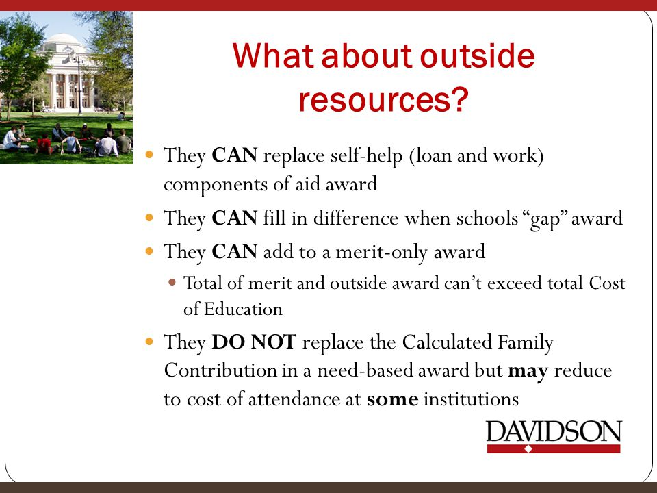 What about outside resources.