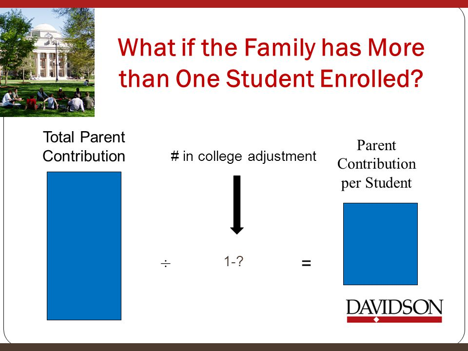 What if the Family has More than One Student Enrolled.