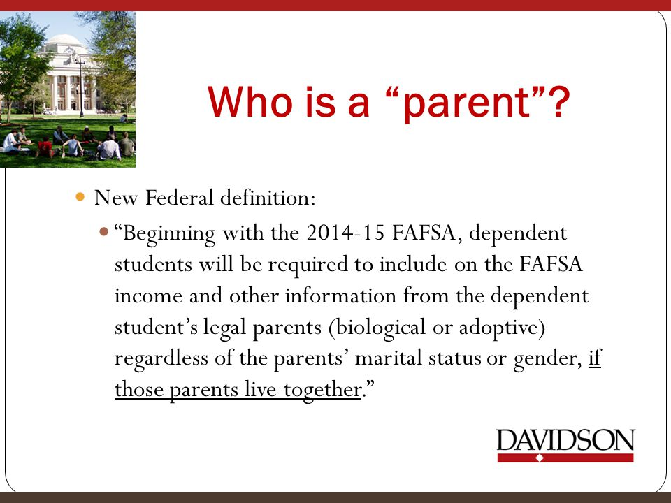 Who is a parent .