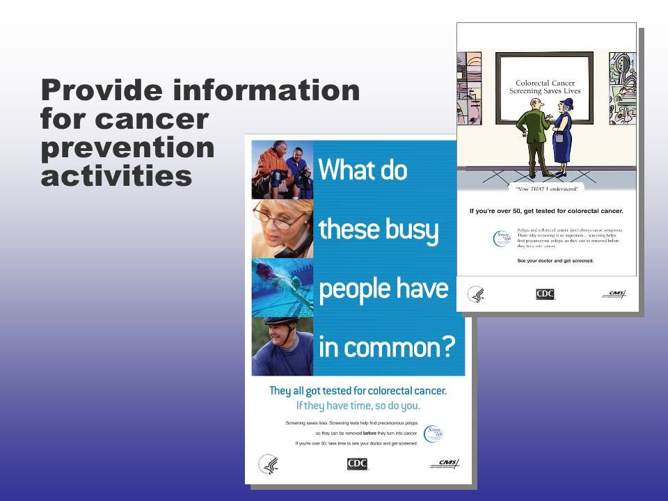 Provide information for cancer prevention activities