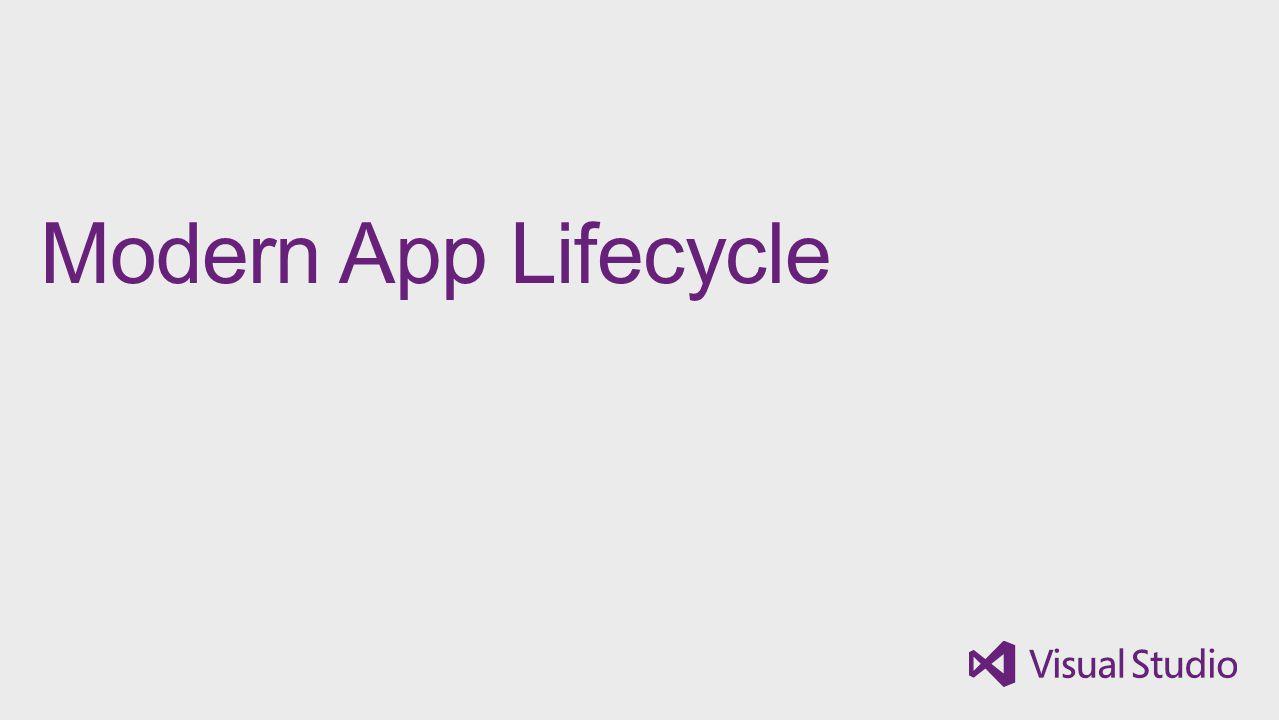 Modern App Lifecycle