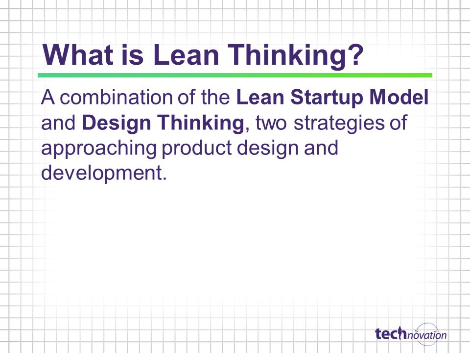 What is Lean Thinking.