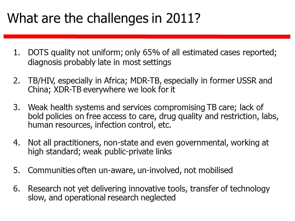 What are the challenges in 2011.