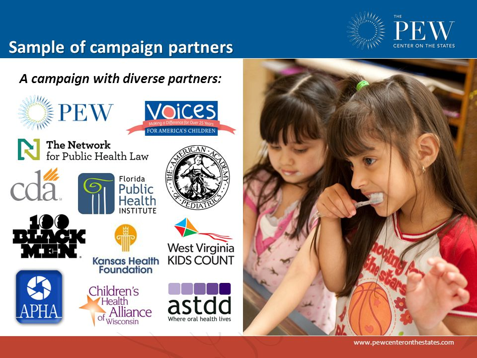 www.pewcenteronthestates.com Sample of campaign partners A campaign with diverse partners: