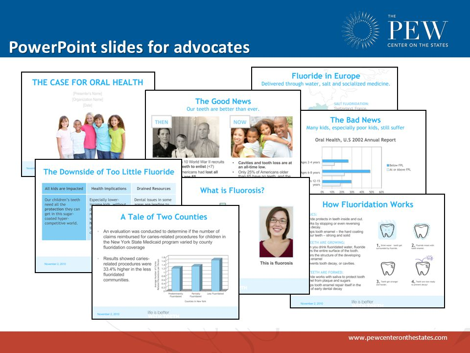 www.pewcenteronthestates.com PowerPoint slides for advocates