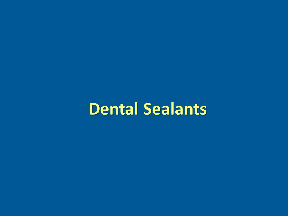 www.pewcenteronthestates.com Dental Sealants
