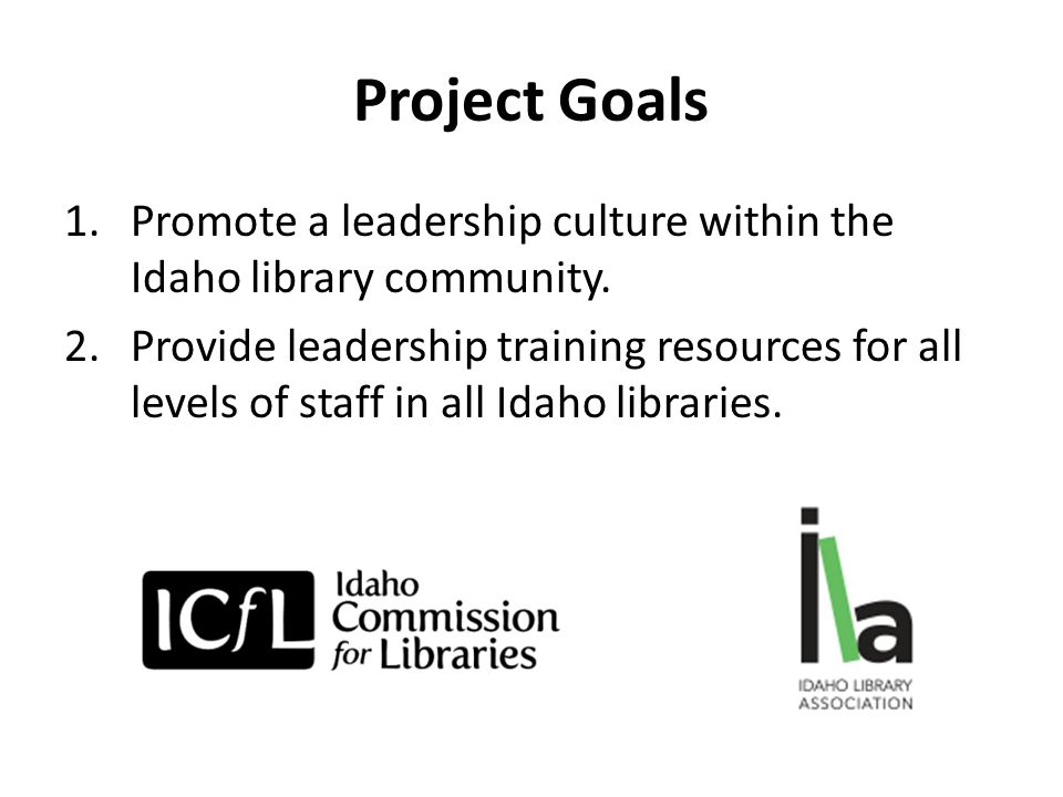 Work Assignments Reading Assignments: http://libraries.idaho.gov/leadership http://libraries.idaho.gov/leadership Environmental Scan Do an environmental scan in your library/region in regard to unmet leadership needs/target audiences to ascertain the summit findings.