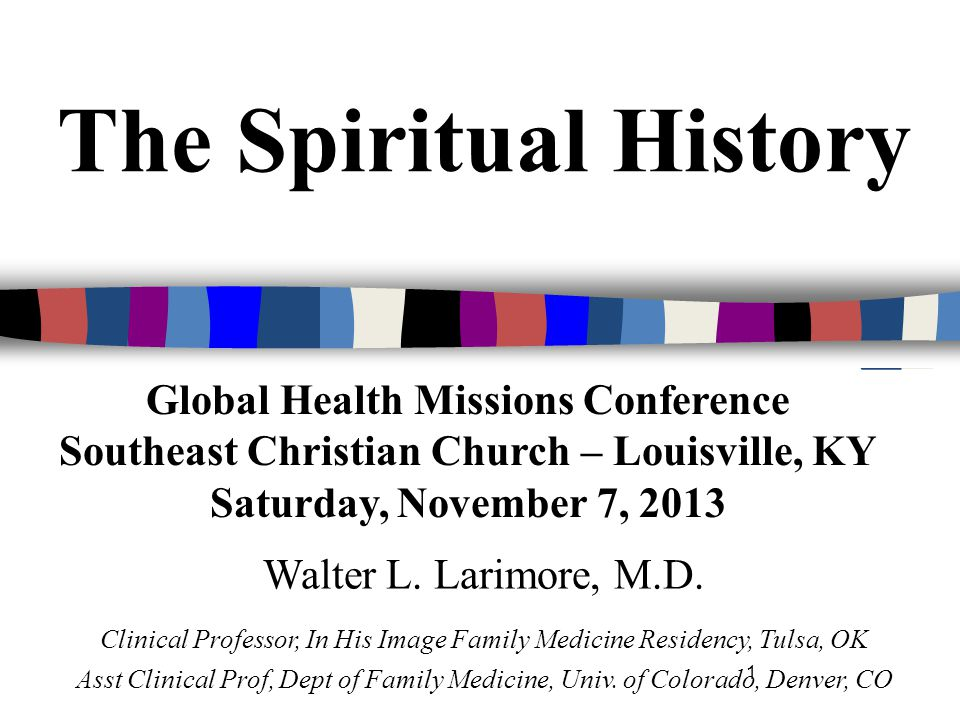 Medical Decision Making R/S (religious or spiritual) beliefs affect patients' medical decisions, may conflict with medical treatments, and can influence compliance with those treatments.