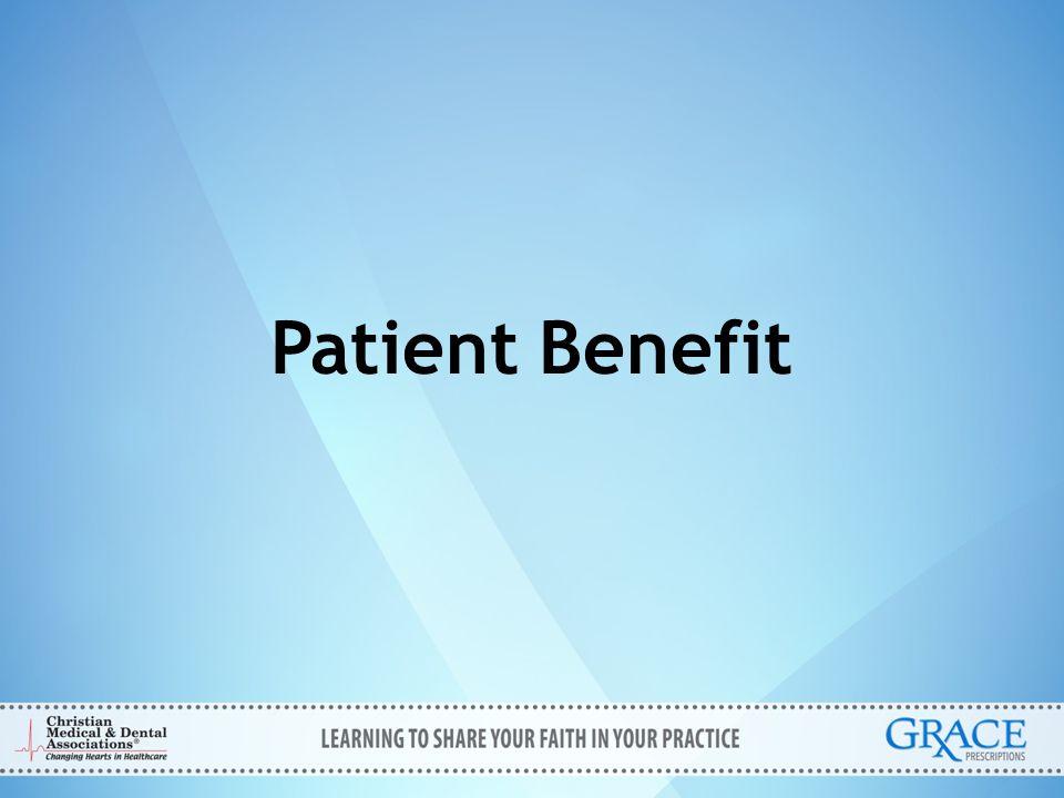 Patient Benefit