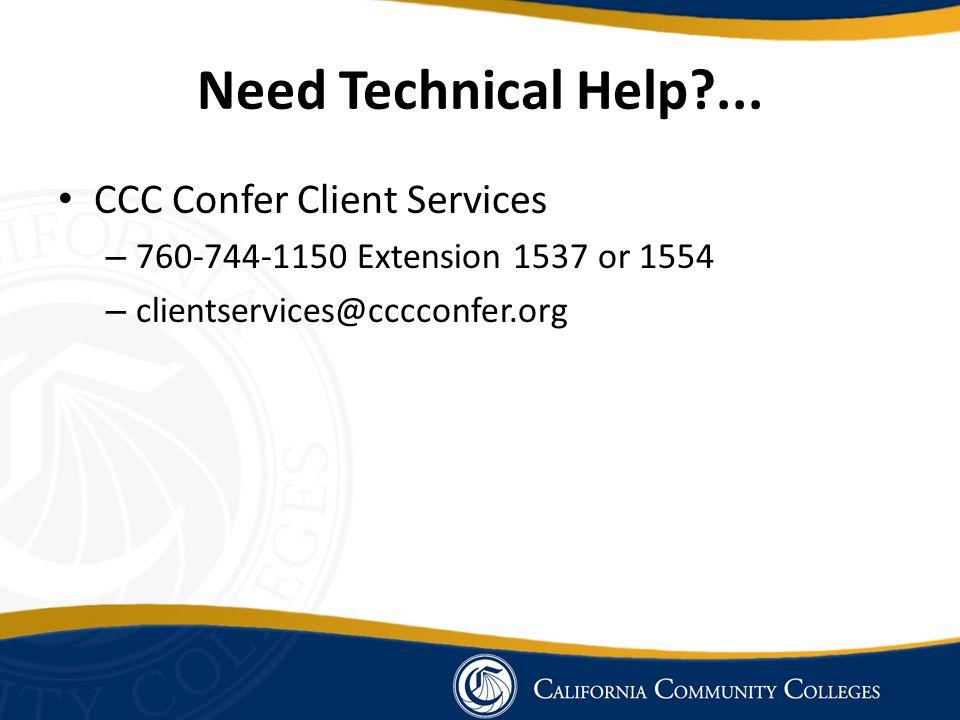 Need Technical Help ...