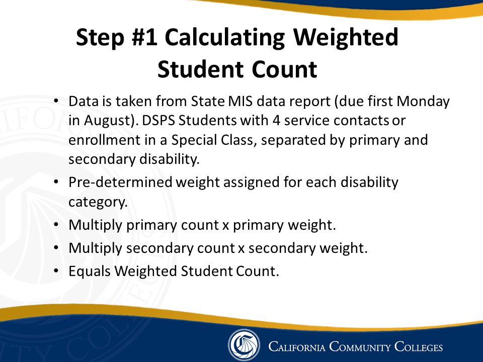 Data is taken from State MIS data report (due first Monday in August). DSPS Students with 4 service contacts or enrollment in a Special Class, separat