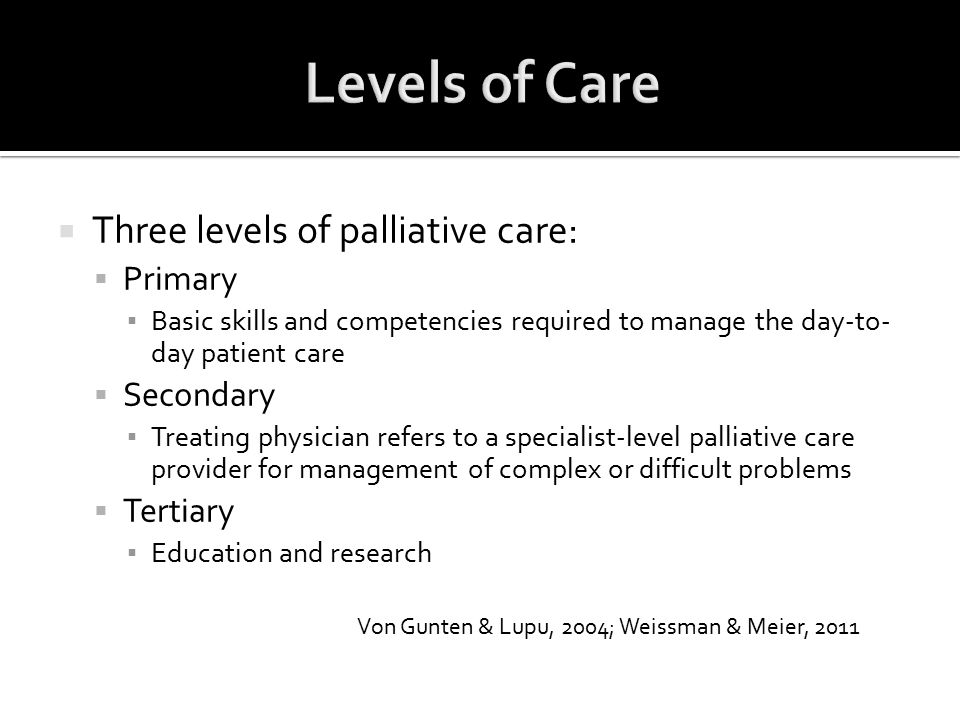  Retrospective study design may have contributed to the nurse investigators' inability to determine the presence or absence of each criterion  Quality of documentation  Investigators knowledge and experience  Generalizability of study findings:  Patients who received palliative care  Definition of hospital admission