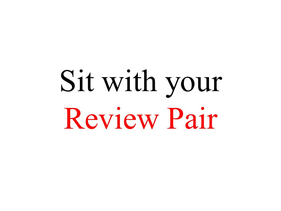 Sit with your Review Pair