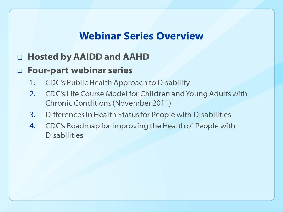 DISABILITY: DISPARITIES IN HEALTH