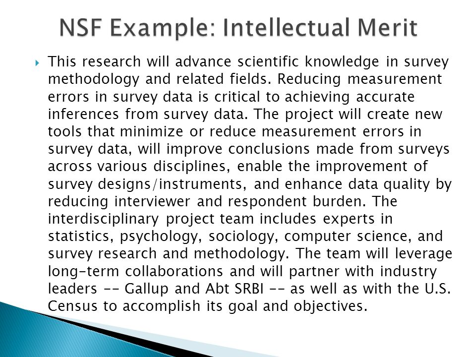  This research will advance scientific knowledge in survey methodology and related fields.