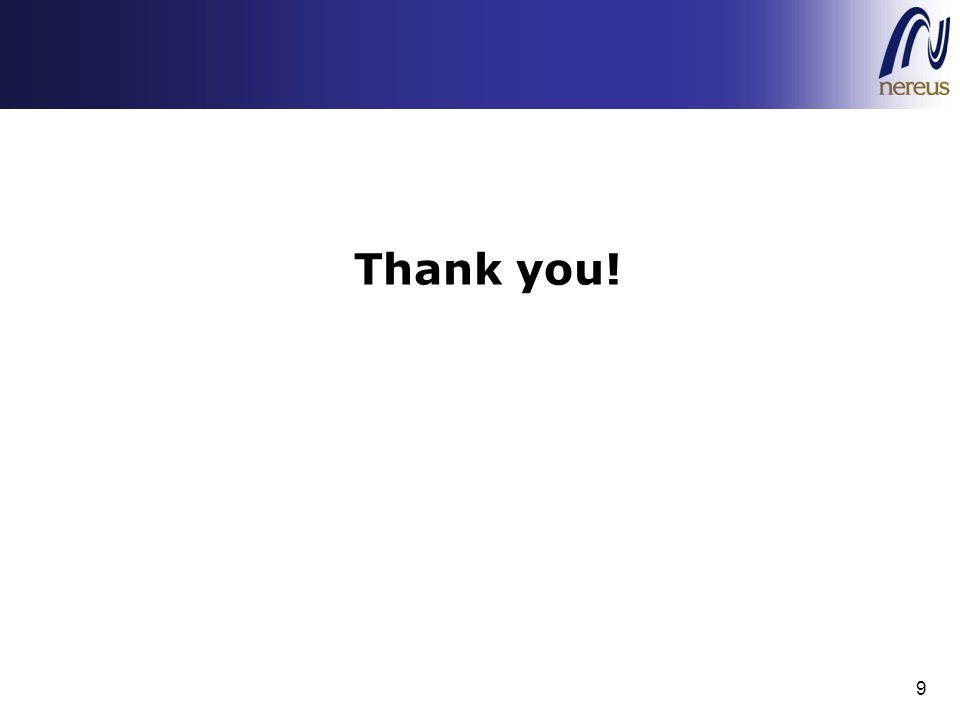 Thank you! 9