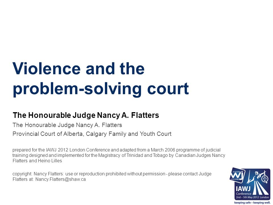 Why Think About a Different Way of Processing DV Cases/Justice.