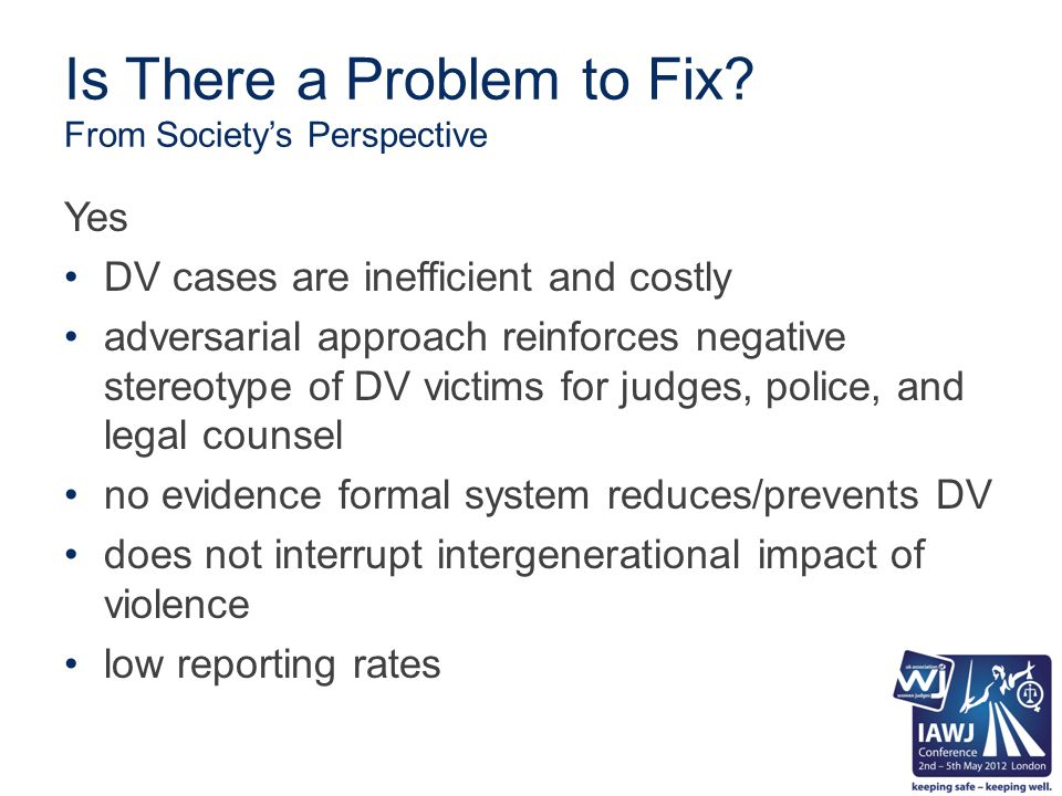 Against this Backdrop why a Problem Solving DV Court (DVPSC).
