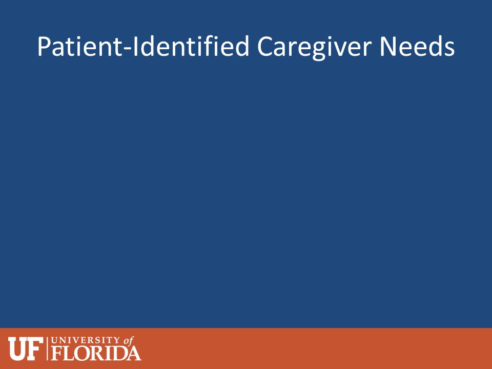 Patient-Identified Caregiver Needs