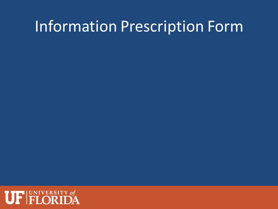 Information Prescription Form