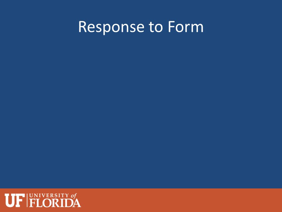 Response to Form