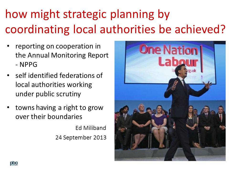 how might strategic planning by coordinating local authorities be achieved.