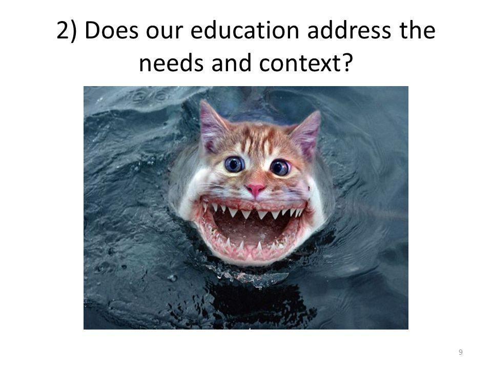 2) Does our education address the needs and context 9