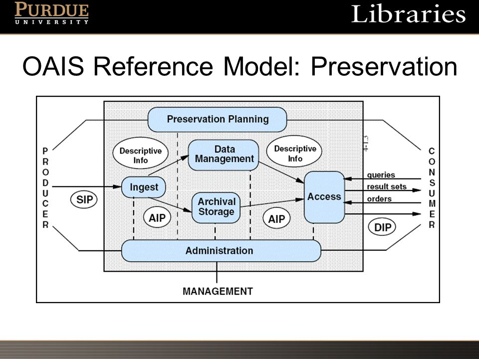 OAIS Reference Model: Preservation