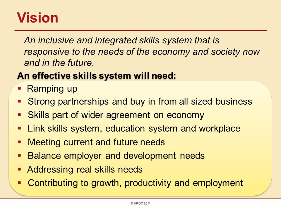 Fundamentals  Identification of sector skills needs  Strategic skills planning  Learning interventions: development and implementation  An inclusive system  Provider profile  Policy alignment  Monitoring & Evaluation  Quality Assurance  Governance and leadership  An effective & credible funding model  Human capacity  Brokering partnerships and collaboration  Effective back office functions and shared services 10