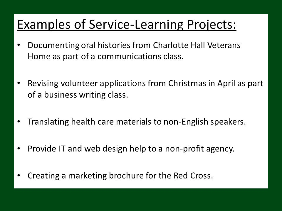 What are the benefits to the students.Links course work to real life experience and employment.