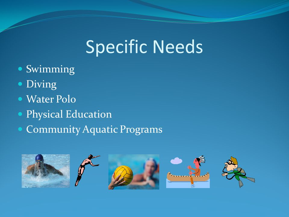Specific Needs Swimming Diving Water Polo Physical Education Community Aquatic Programs