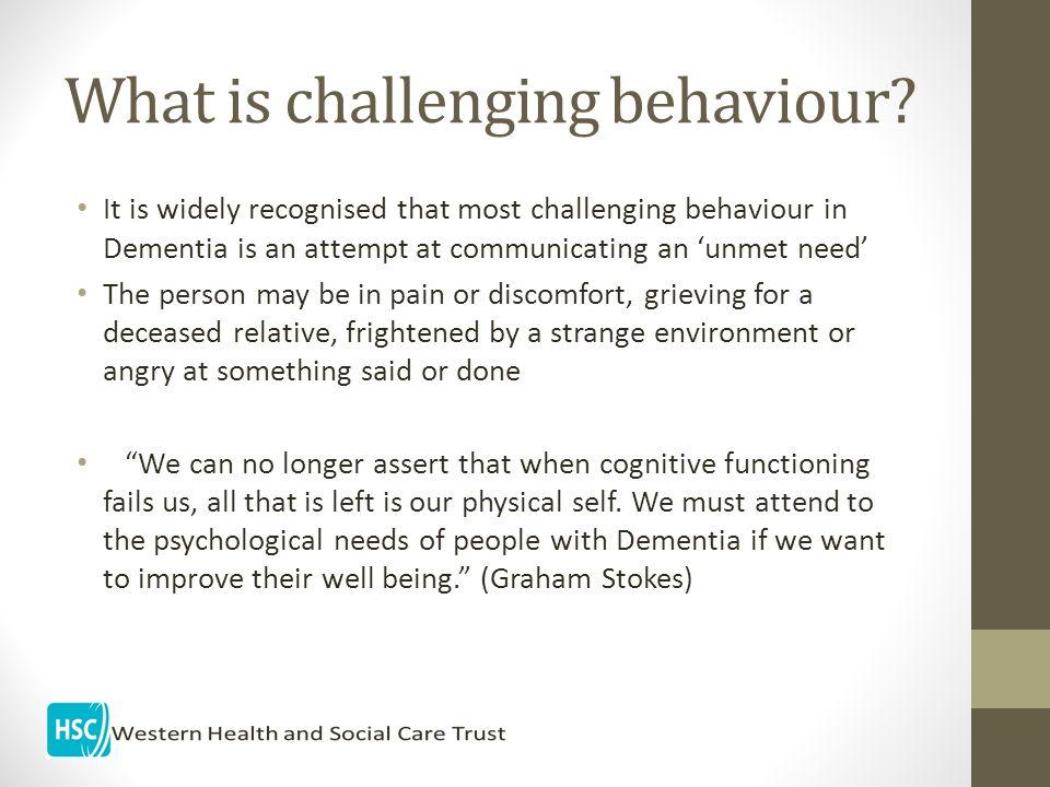 What is challenging behaviour.