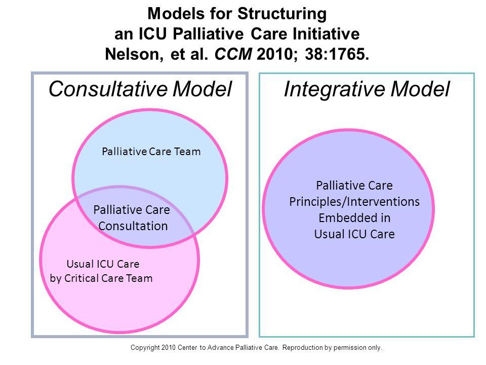 Models for Structuring an ICU Palliative Care Initiative Nelson, et al.