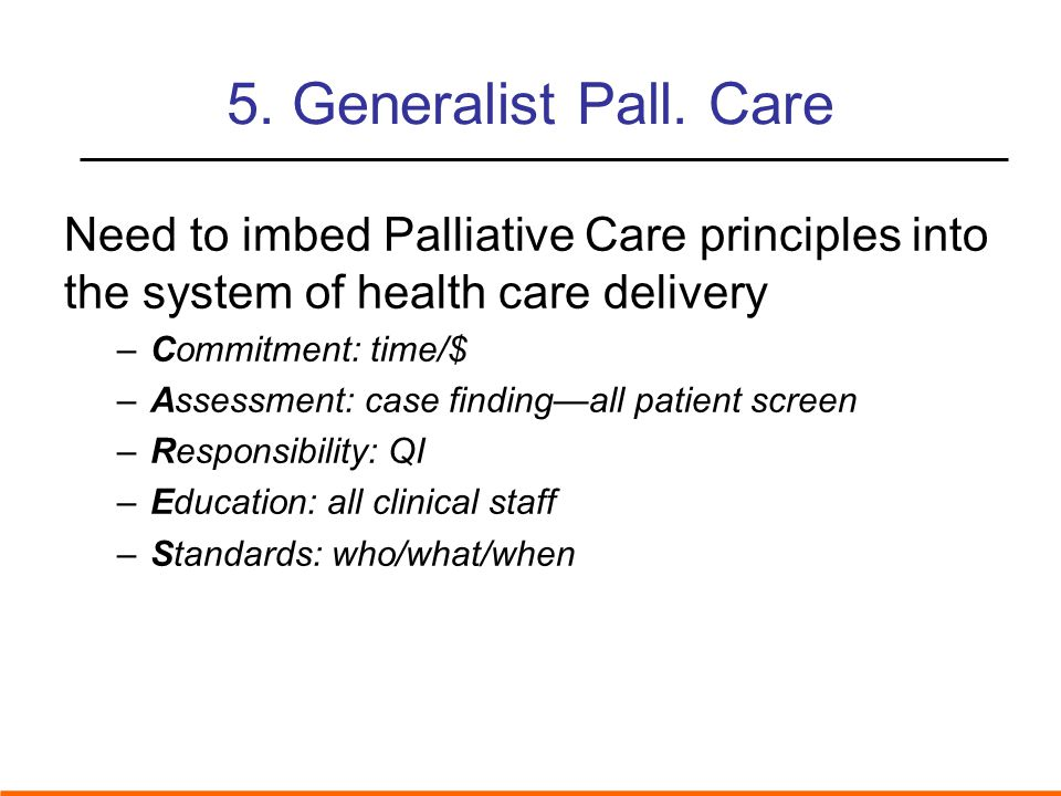 5. Generalist Pall.