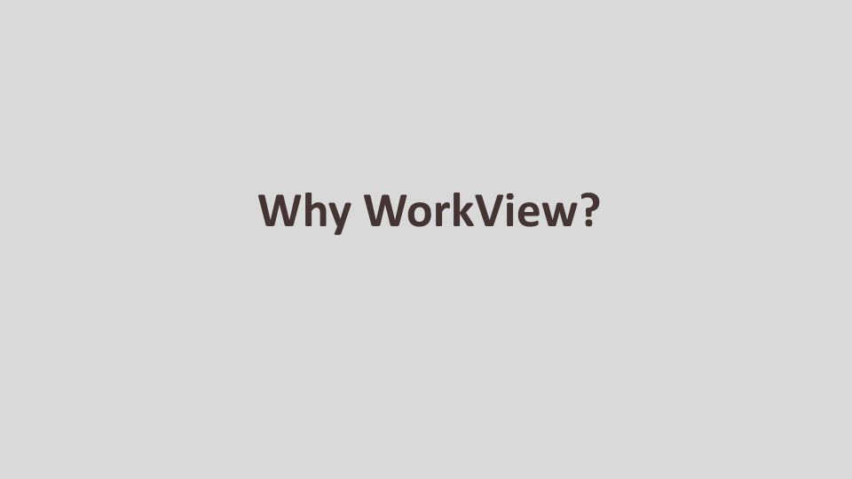 Why WorkView
