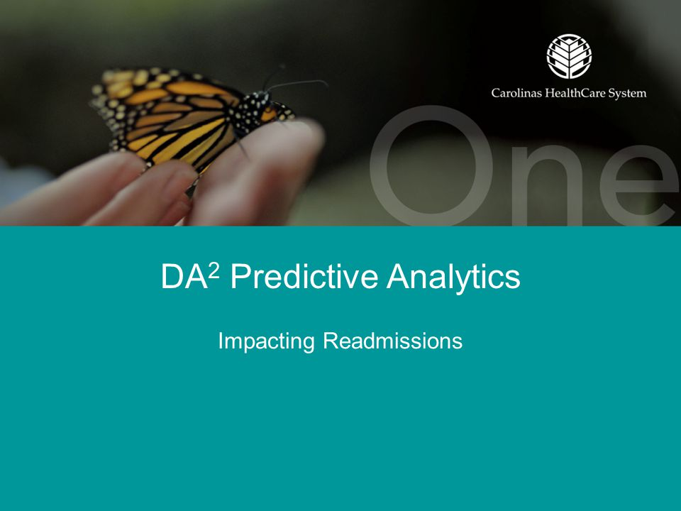 DA 2 Predictive Analytics Impacting Readmissions