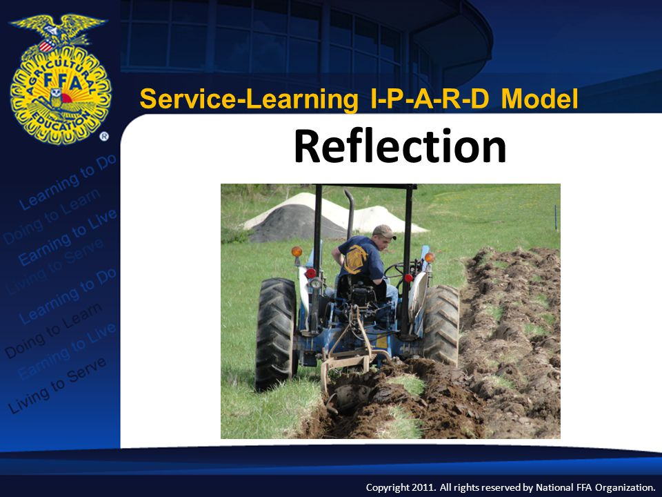 Reflection Service-Learning I-P-A-R-D Model
