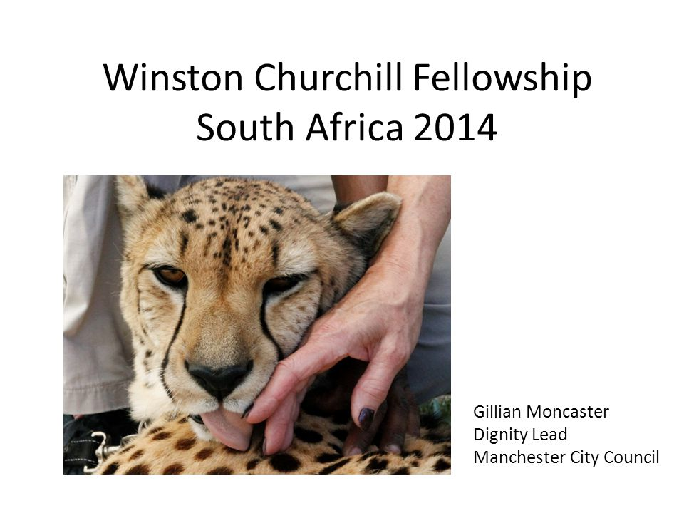Winston Churchill Fellowship South Africa 2014 Gillian Moncaster Dignity Lead Manchester City Council