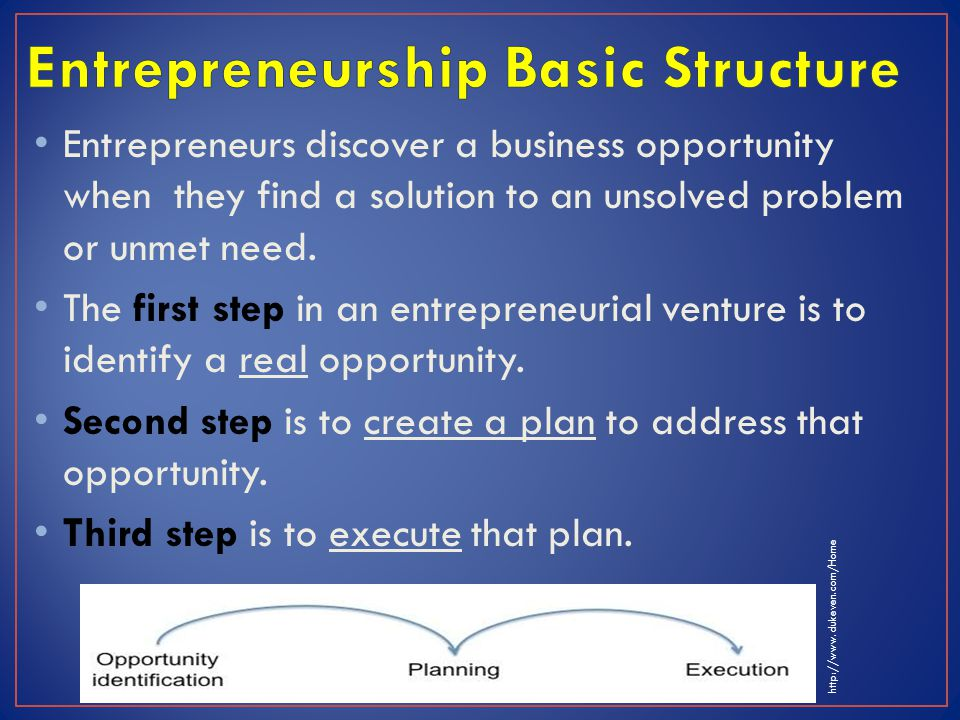 Entrepreneurs discover a business opportunity when they find a solution to an unsolved problem or unmet need.